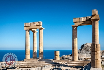 Columns of the Ancient Lindos, Rhodes