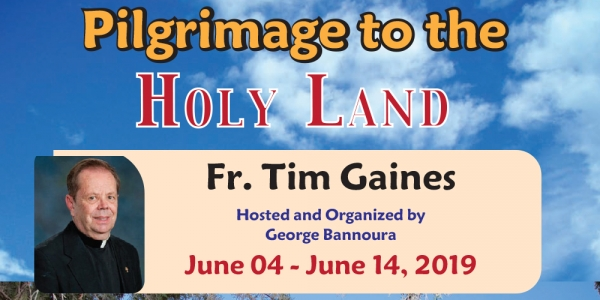 11 Days Pilgrimage to the Holy Land from Denver CO - June 04 - 14, 2019 - Fr. Tim Gaines