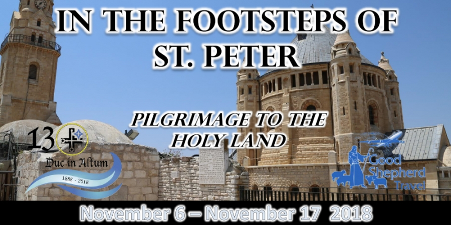 12 Days In The Footsteps of St. Peter - November 6 - 17, 2018 from Minneapolis/St. Paul with Church of St. Peter