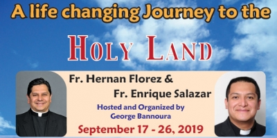 10 Days to the Holy Land - September 17-26, 2019 - Fr. Hernan Florez & Fr. Enrique Salazar